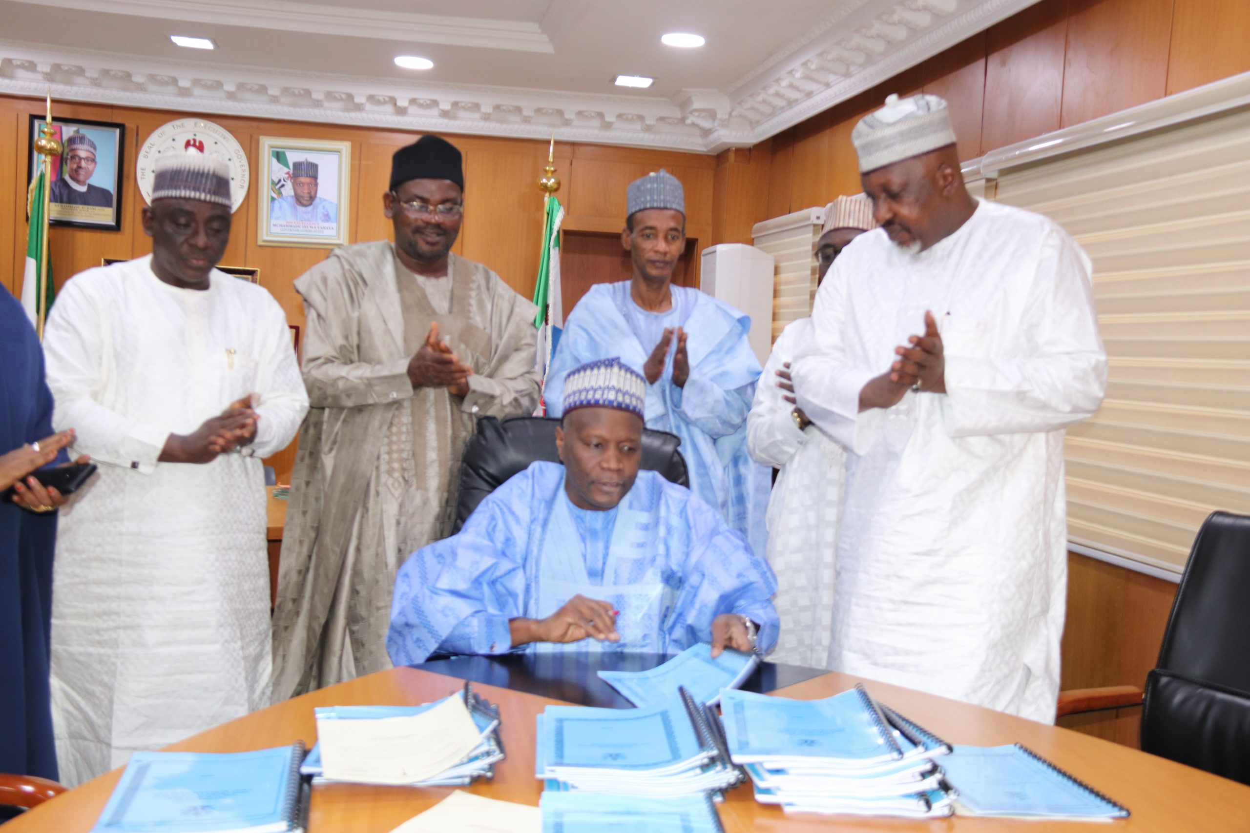 SIGNING OF GOMBE STATE PUBLIC PROCUREMENT LAW BY HIS EXCELLENCY, THE EXECUTIVE GOVERNOR OF GOMBE STATE ALHAJI MUHAMMADU INUWA YAHAYA